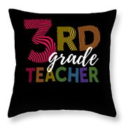 3rd Grade Teacher Light Throw Pillow