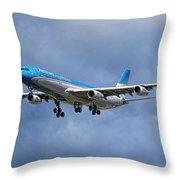 Aerolineas Argentinas Airbus A340-313 Throw Pillow