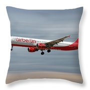 Air Berlin Airbus A321-211 Throw Pillow