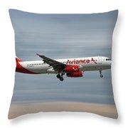 Avianca Airbus A320-233 Throw Pillow