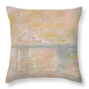 Charing-cross Bridge In London -  Throw Pillow