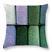 Colourful Carpet Samples Throw Pillow
