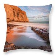 Dancing Ledge - England Throw Pillow