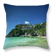 Diniwid Resort Beach View In Tropical Paradise Boracay Island Ph Throw Pillow
