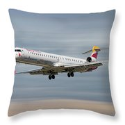 Iberia Regional Bombardier Crj-1000 Throw Pillow