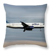 Jetblue Airways Airbus A320-232 Throw Pillow