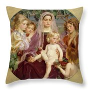 Madonna Of Giverny  Throw Pillow
