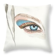 Portrait Illustration- Watercolor Painting Throw Pillow
