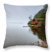 Misty Ullswater Throw Pillow