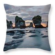 Motukiekie Beach - New Zealand Throw Pillow