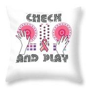Naughty Breast Cancer Awareness Art For Women Light Throw Pillow
