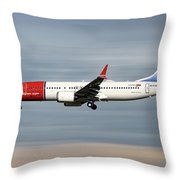 Norwegian Boeing 737 Max 8 Throw Pillow