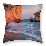Playing At Aphrodite's Birthplace Throw Pillow