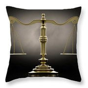 Scales Of Justice Dramatic Throw Pillow