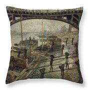 The Coalmen  Throw Pillow