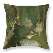 The Rehearsal Of The Ballet Onstage  Throw Pillow