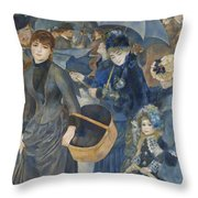 The Umbrellas  Throw Pillow