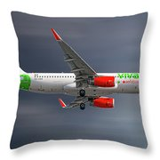 Vivaaerobus Airbus A320-232 Throw Pillow