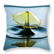 Water Drop Throw Pillow by Nicole Young