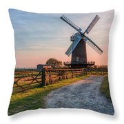 Wilton Windmill - England Throw Pillow