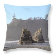 Ruby Beach Sunshine Throw Pillow