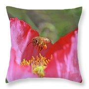 Honeybee Throw Pillow