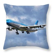 Aerolineas Argentinas Airbus A340-313 Throw Pillow