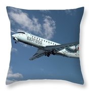 Air Canada Express Bombardier Crj-200er Throw Pillow