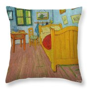 Bedroom In Arles Throw Pillow