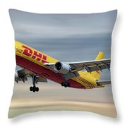 Dhl Airbus A300-f4 Throw Pillow