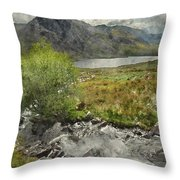Digital Watercolor Painting Of Stunning Landscape Image Of Count Throw Pillow