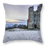 Donnington Castle - England Throw Pillow
