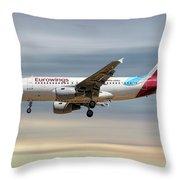 Eurowings Airbus A319-112 Throw Pillow