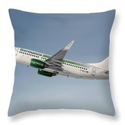 Germania Boeing 737-76j Throw Pillow