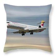 Iberia Regional Bombardier Crj-1000 Throw Pillow