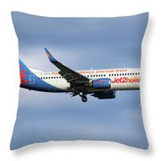 Jet2 Boeing 737-33v Throw Pillow