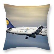 Lufthansa Airbus A319-114 Throw Pillow