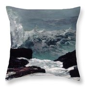 Maine Coast  Throw Pillow