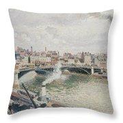 Morning  An Overcast Day  Rouen  Throw Pillow