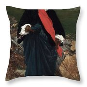 Portrait Of May Sartoris Throw Pillow