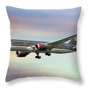 Royal Jordanian Boeing 787-8 Dreamliner Throw Pillow
