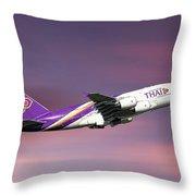 Thai Airways Airbus A380-841 Throw Pillow