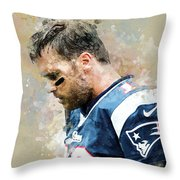Tom Brady.new England Patriots. Throw Pillow