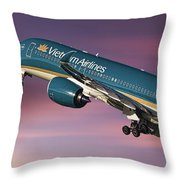 Vietnam Airlines Airbus A350 Throw Pillow