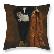 Young Man In The Costume Of A Majo  Throw Pillow