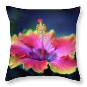 Hibiscus Delight Throw Pillow