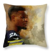 Le'veon Bell.pittsburgh Steelers. Throw Pillow