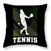 Tennis Player Tennis Racket I Love Tennis Ball Throw Pillow