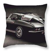 63 Chevrolet Corvette Stingray Throw Pillow