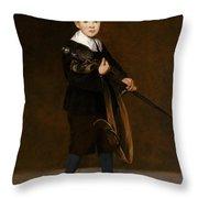 Boy With A Sword  Throw Pillow
